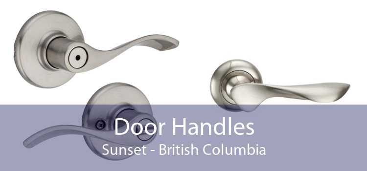 Door Handles Sunset - British Columbia