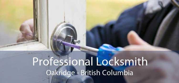 Professional Locksmith Oakridge - British Columbia